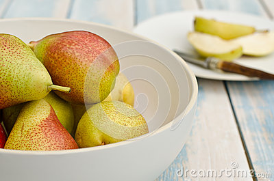 Fresh blush pears