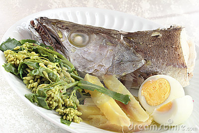 Fresh boiled fish