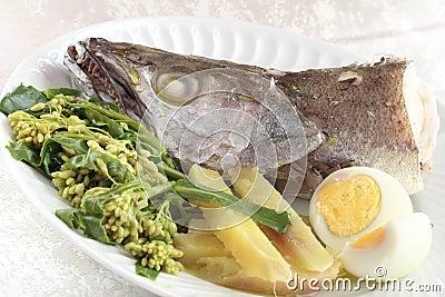 Fresh boiled fish