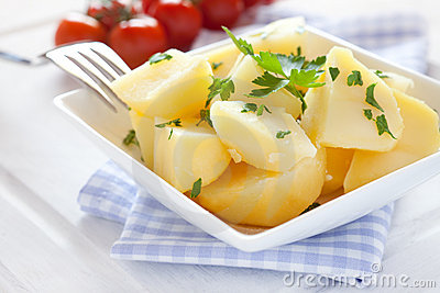 Fresh boiled potatoes