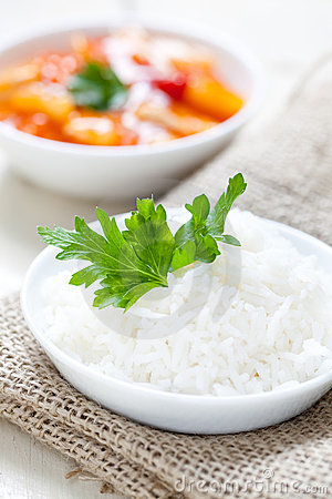 Fresh boiled rice