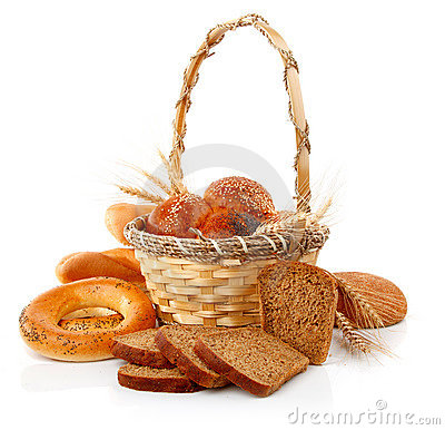 Fresh Bread With Corn In The Basket Royalty Free Stock Photos - Image: 14280408
