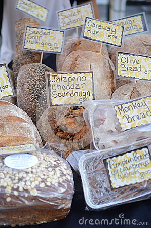 Free Fresh Bread On A Market Royalty Free Stock Photography - 47340037