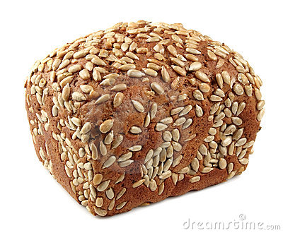 Fresh bread with sunflower seeds