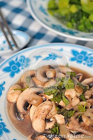 Fresh brown mushroom delicacy