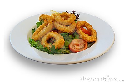 Fresh Calamari and Salad Lunch