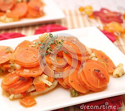 Fresh carrots stew