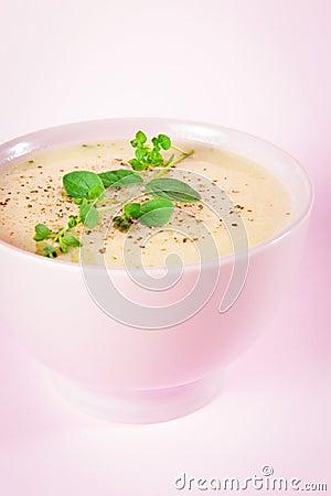 Fresh Cauliflower and Broccoli Soup