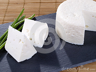 Fresh cheese tapa.