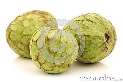 Fresh cherimoya fruits (Annona cherimola)