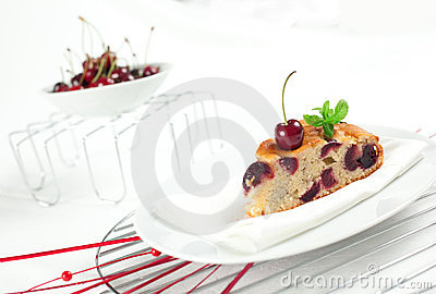 Fresh Cherries Cake