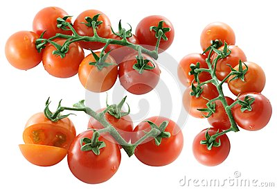 Fresh Cherry tomato on white background