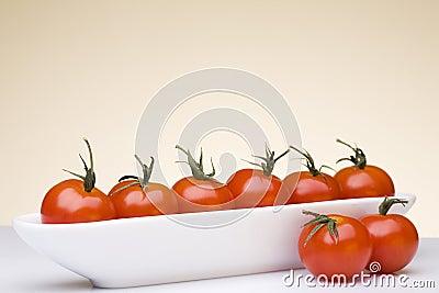 Fresh cherry tomatoes.