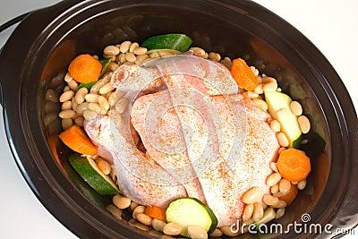 Fresh Chicken in Slow Cooker