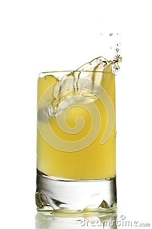 Fresh chilled grapefruit juice