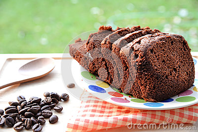 Fresh Chocolate Cake With Coffee Beans Stock Photo - Image ...
