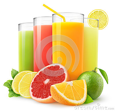 Free Fresh Citrus Juices Royalty Free Stock Photography - 27980967