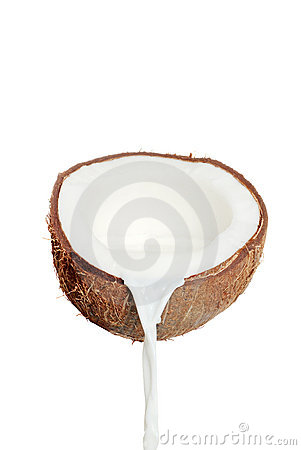 Free Fresh Coconut And Milk Royalty Free Stock Photos - 14087738