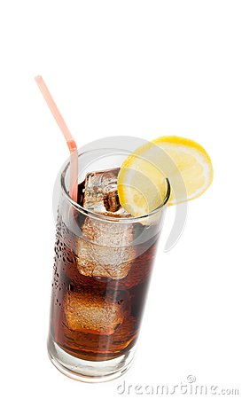 Free Fresh Coke With Straw With Lemon Slice On Top, Summer Time Royalty Free Stock Photography - 41329017