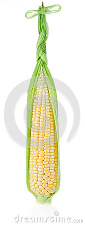 Fresh corn with braid