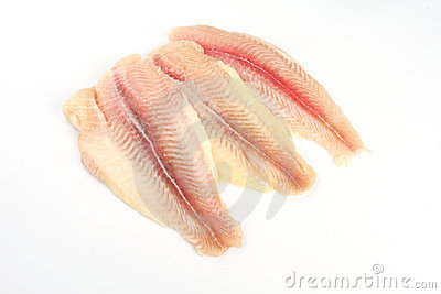 Fresh crude fish fillet