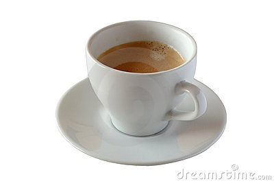 Fresh cup of coffee with clipping path