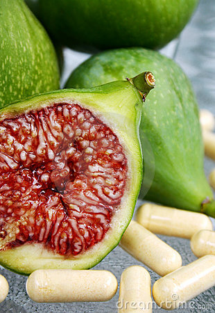 Fresh cut figs