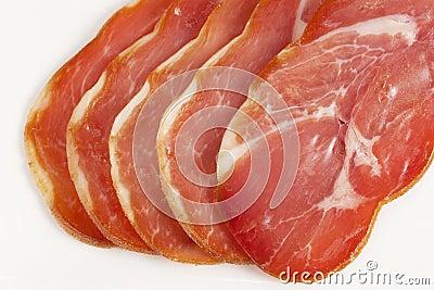 Fresh cut of ham