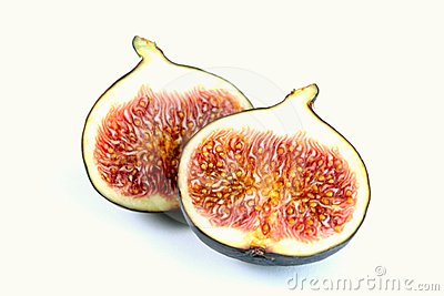 Fresh delicious red figs