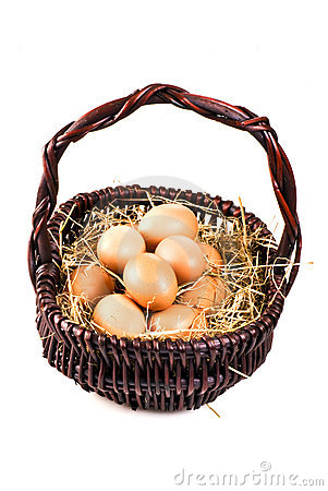 Free Fresh Eggs In The Basket Royalty Free Stock Photos - 17452098