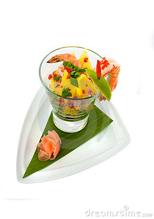 Free Fresh Exotic Seafood Coctail Salad Royalty Free Stock Photography - 11679197