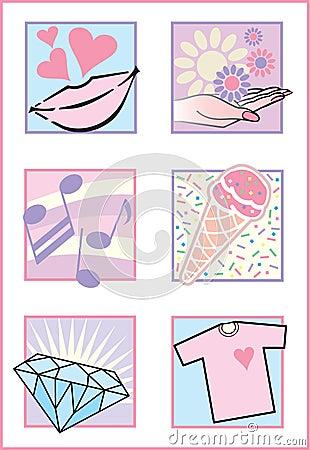 Fresh Feminine Icons/Logos