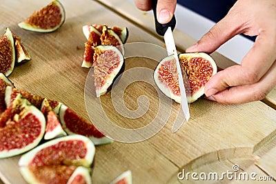 Fresh figs chops