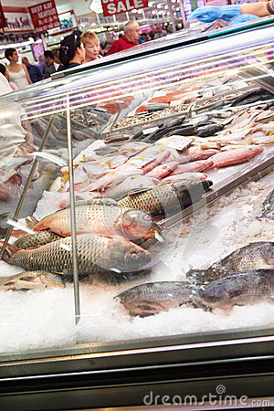Fresh fish for sale Editorial Stock Photo