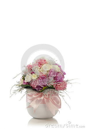 Free Fresh Flower Bouquet In Vase Royalty Free Stock Image - 37006046