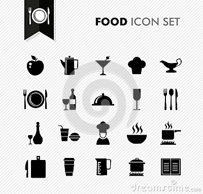 Free Fresh Food Restaurant Menu Icon Set. Royalty Free Stock Image - 33271096