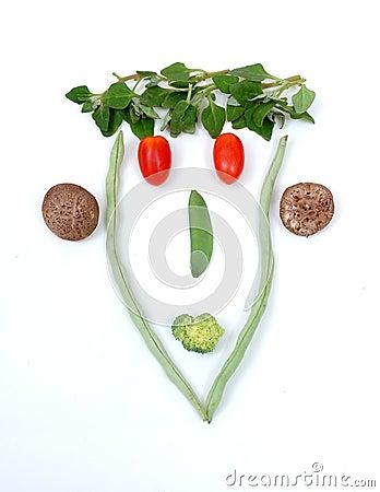Free FRESH FOOD SMILEY Stock Photo - 4192450