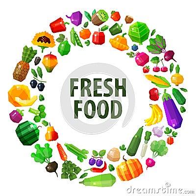 Free Fresh Food Vector Logo Design Template. Fruits And Stock Photos - 55414393