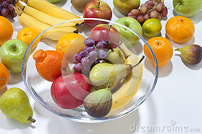 Fresh Fruit With Bowl