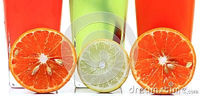 Fresh fruit drinks banner