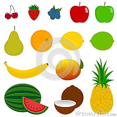 14 Fresh Fruit Icons