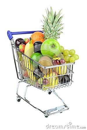 Free Fresh Fruit In Cart Royalty Free Stock Image - 28085836