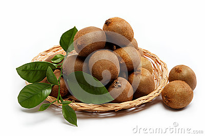 Fresh fruit. Kiwi isolated on a white.