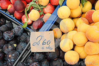 Fresh fruit at market