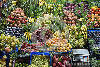 Fresh Fruit Market Stand