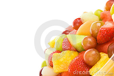 Fresh Fruit Salad with Copyspace