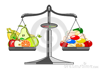Fresh fruit versus pile tablets