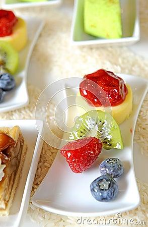 Fresh fruits dessert
