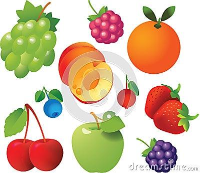Fresh Fruits Icons