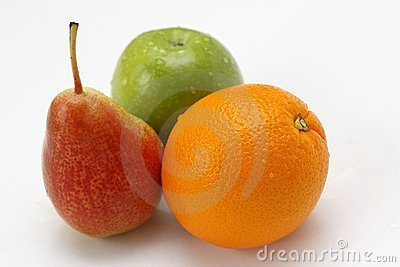 Fresh fruits isolated